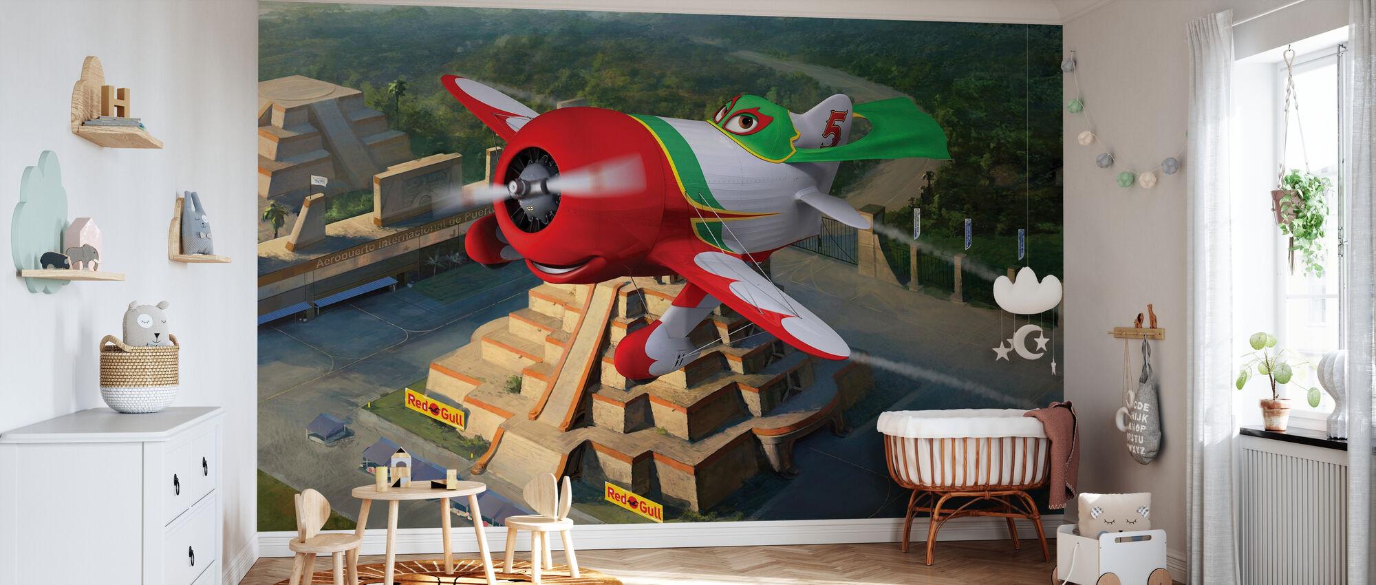 Lentokoneet - Chupacabra - Tapetti - Vauvan huone