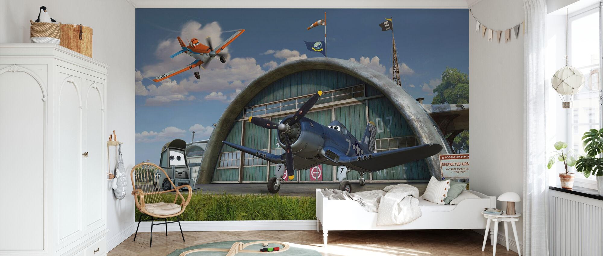 Lentokoneet - Dusty ja Kippari Riley - Tapetti - Lastenhuone