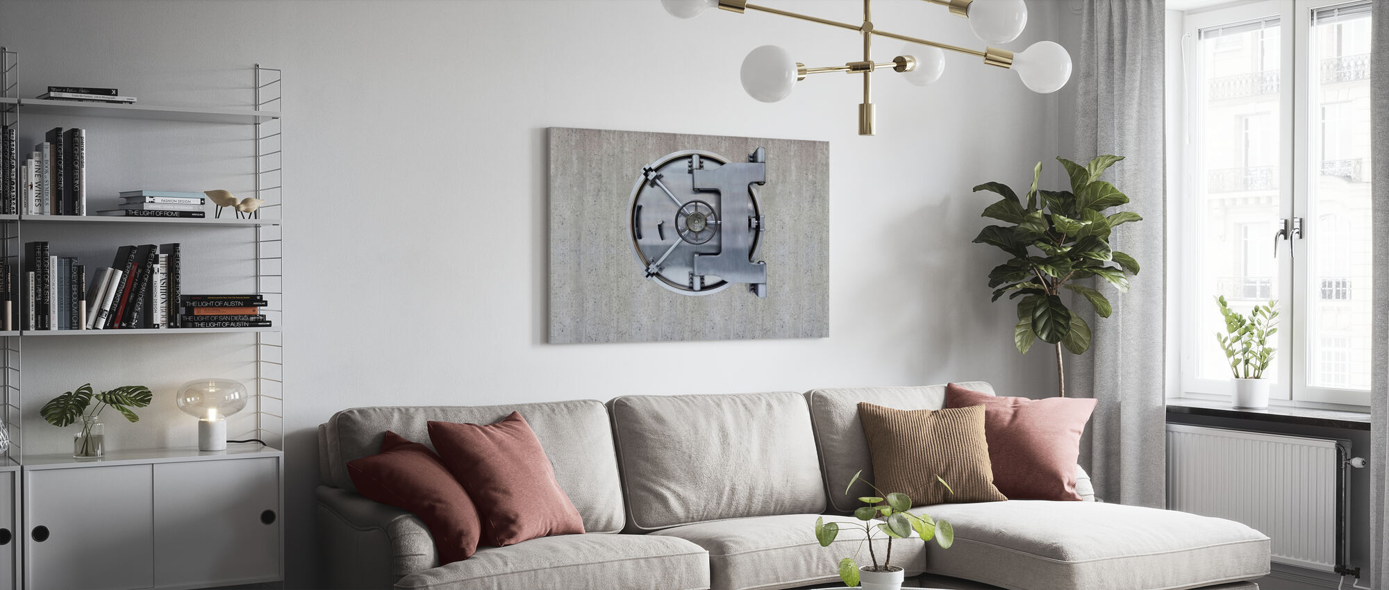 Concrete Vault - Canvas print - Living Room