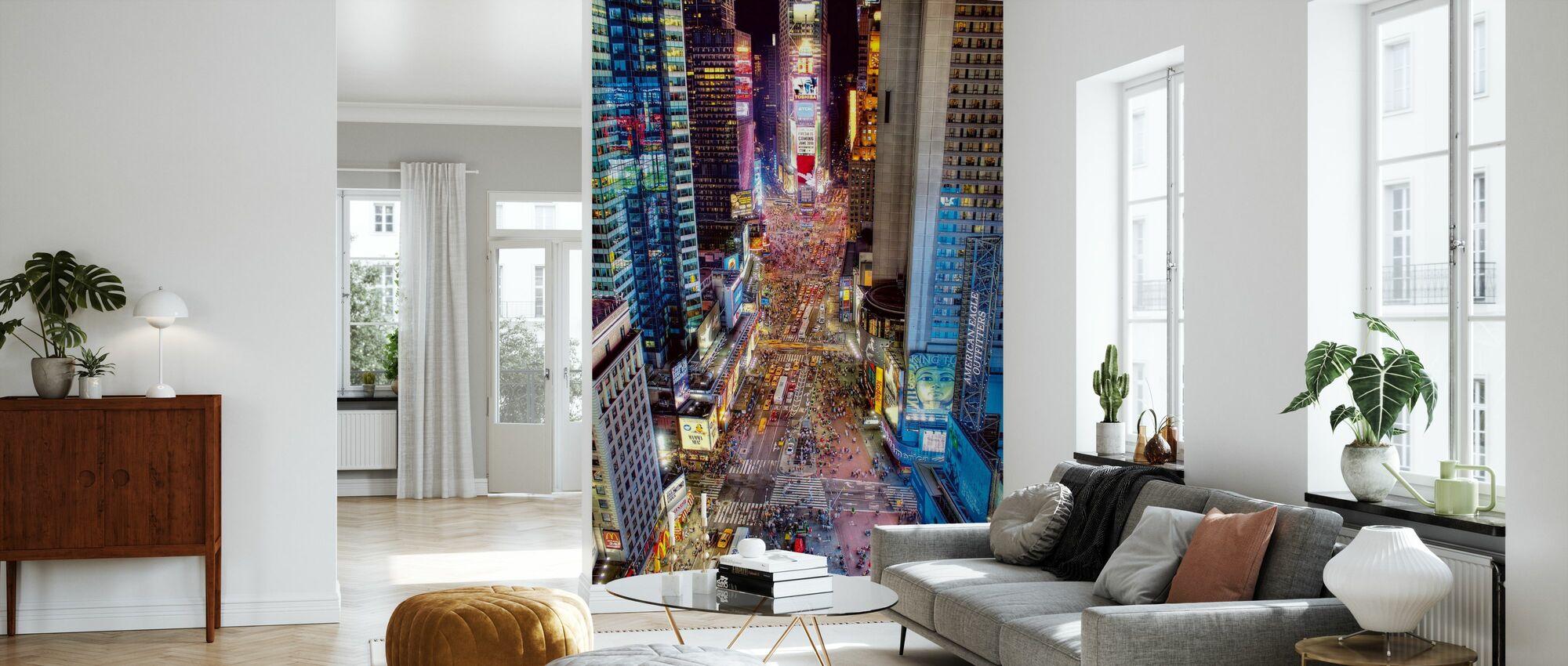 Times Square Renaissance - Wallpaper - Living Room