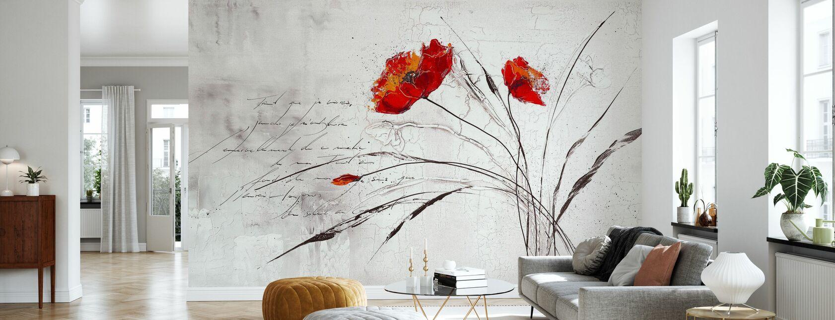 Blommig dröm IV - Tapet - Vardagsrum