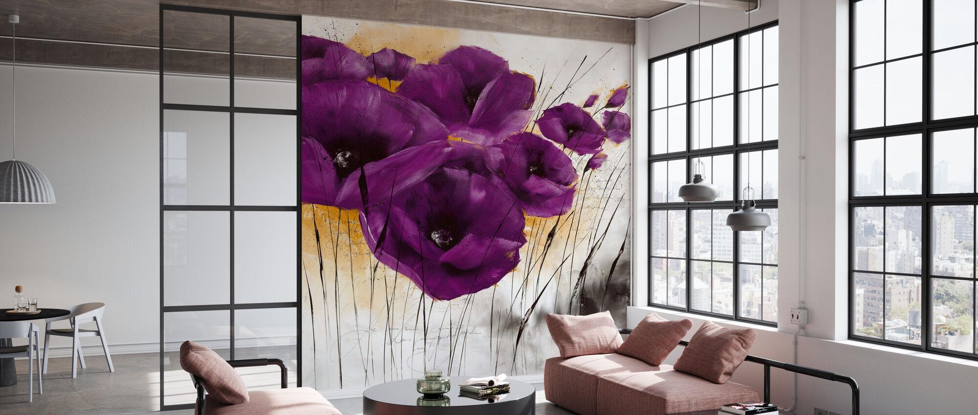 Pavot violet IV - Wallpaper - Office