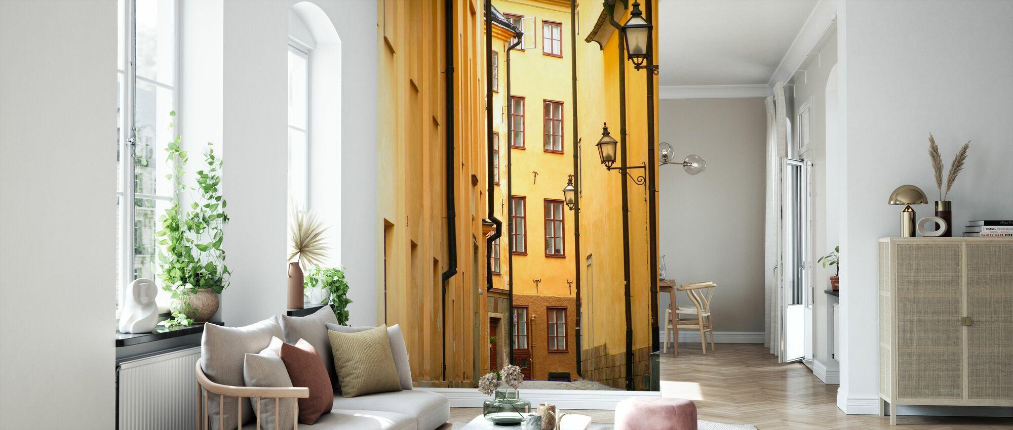 Smal bakgate i Stockholm Gamlebyen - Tapet - Stue