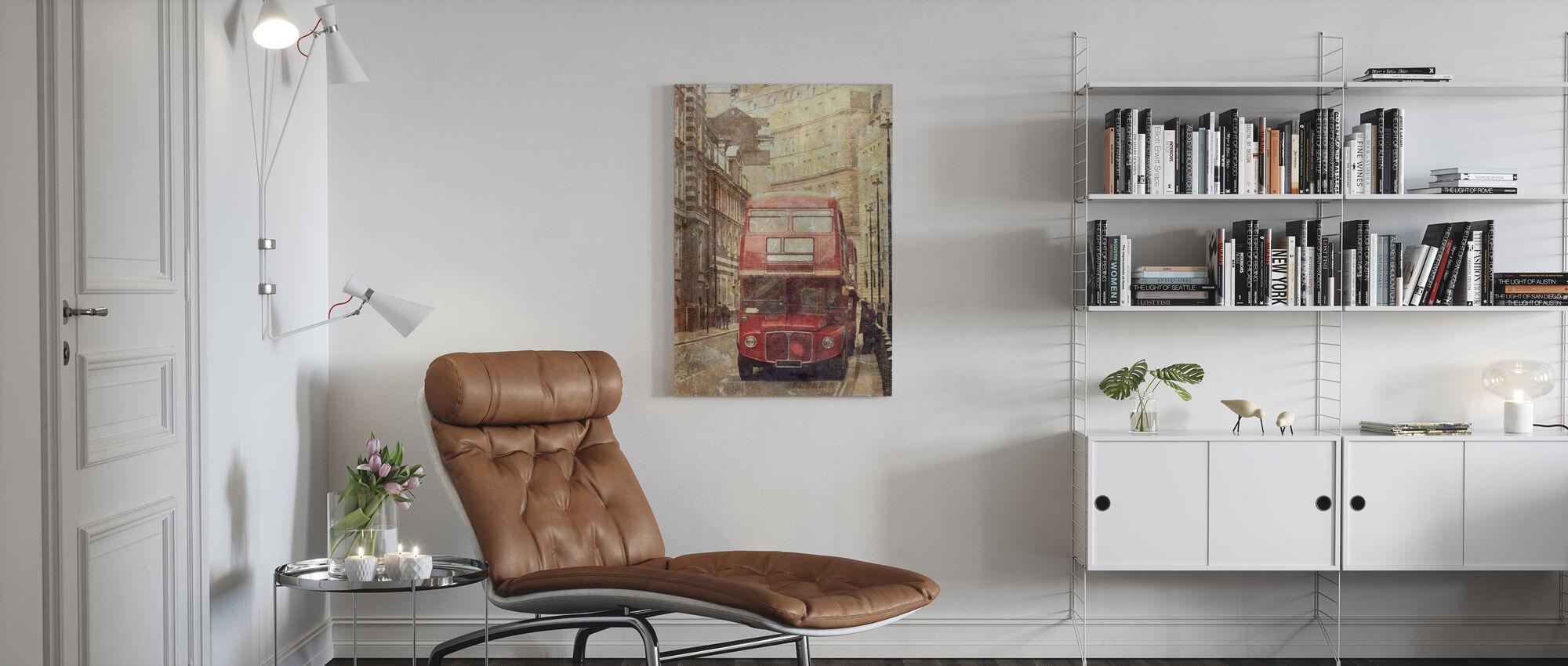 London Bus Route 9 - Canvas print - Living Room