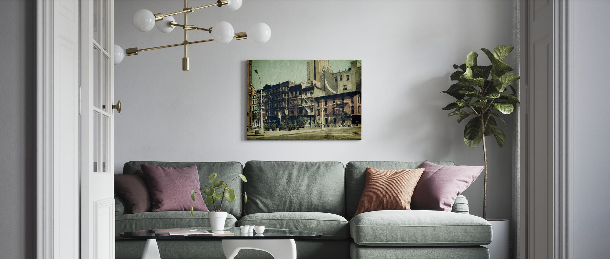 New York City - Sixth Avenue - Canvas print - Living Room