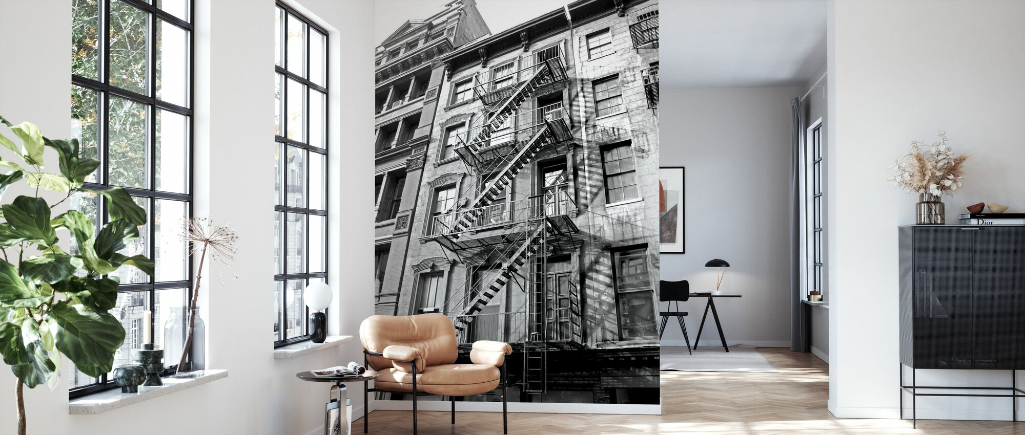New York City - Fire Escape - Wallpaper - Living Room