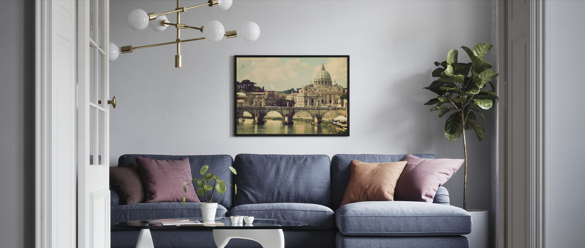 Rom - Sunny San Pietro - Inramad tavla - Vardagsrum