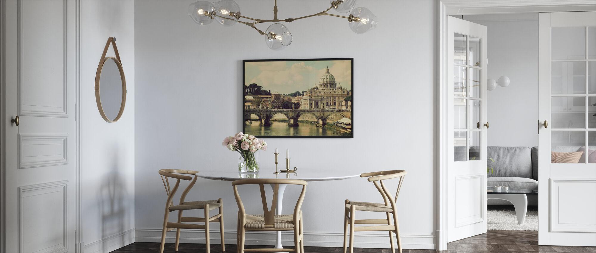 Rome - Sunny San Pietro - Framed print - Kitchen