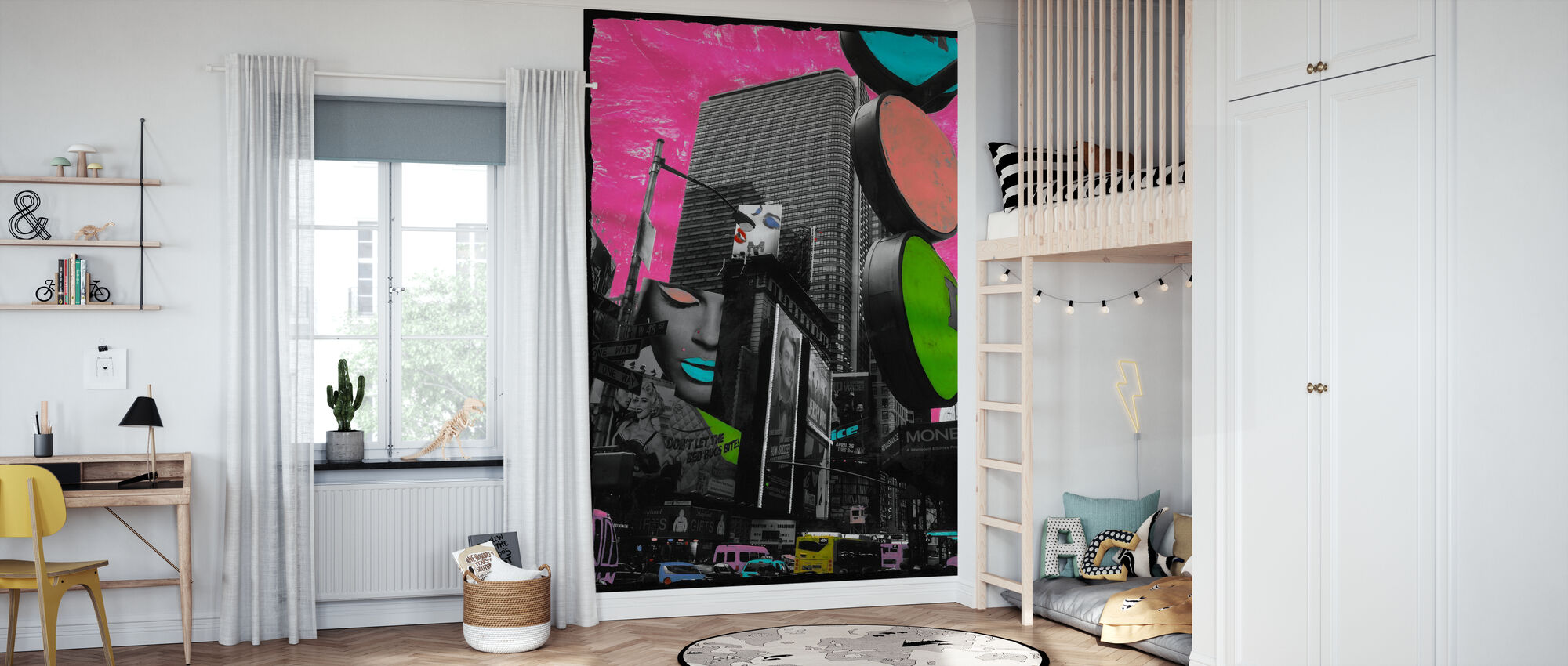 Times Square - Wallpaper - Kids Room