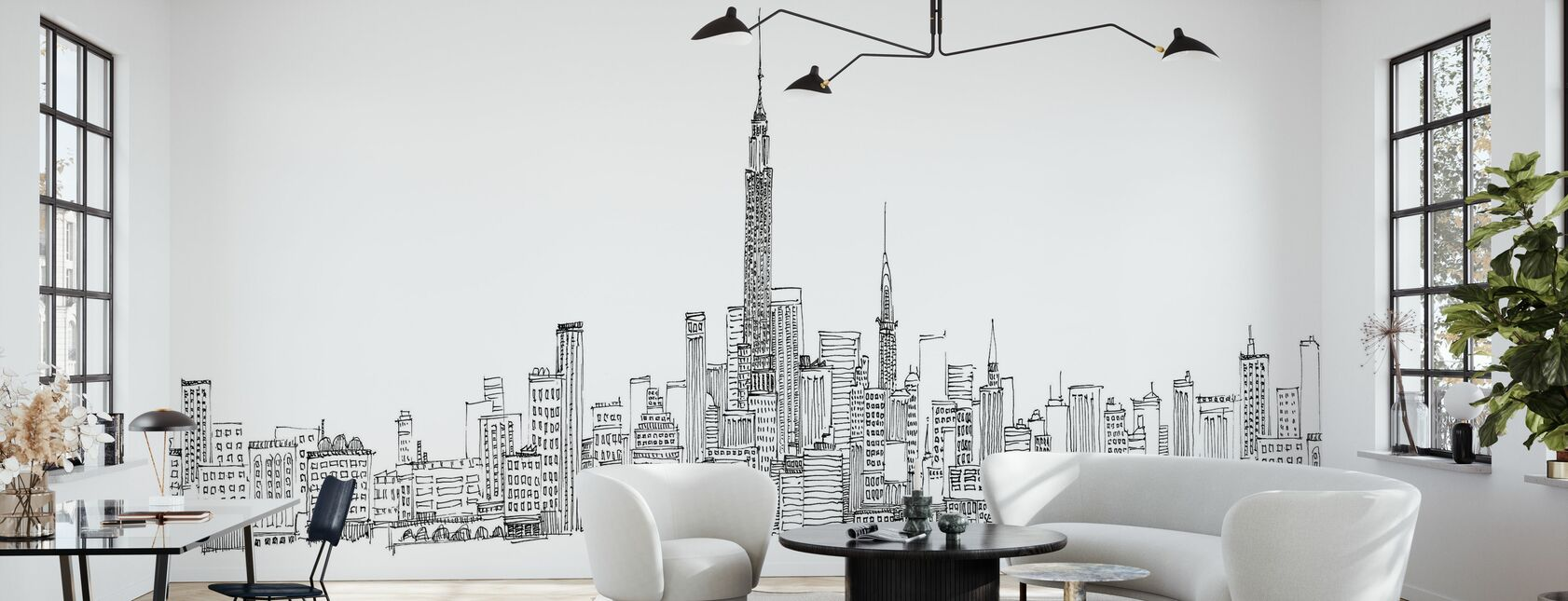 Avery Tillmon - Skyline van New York - Behang - Woonkamer