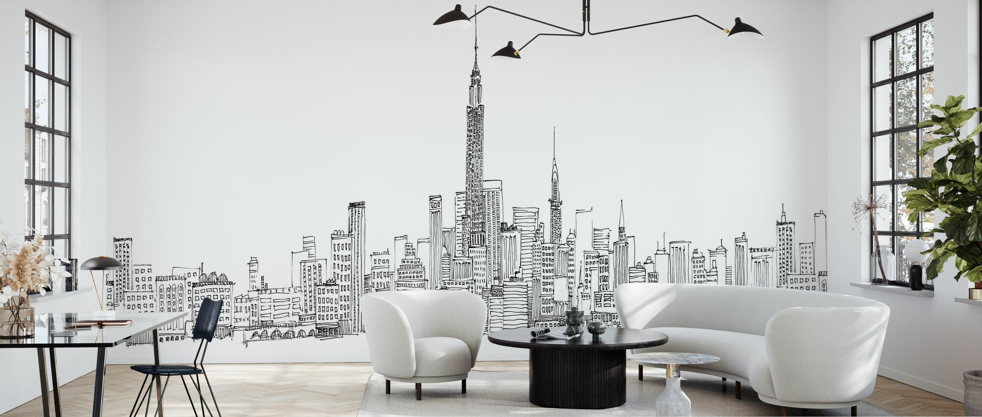 Avery Tillmon - New York Skyline - Wallpaper - Living Room