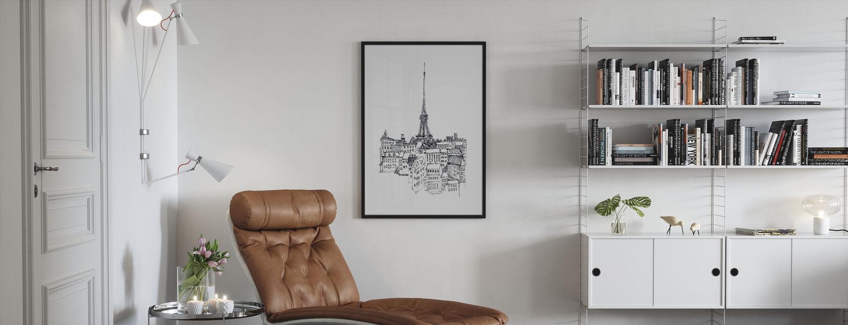 Avery Tillmon - Torre Eiffel - Stampa incorniciata - Salotto