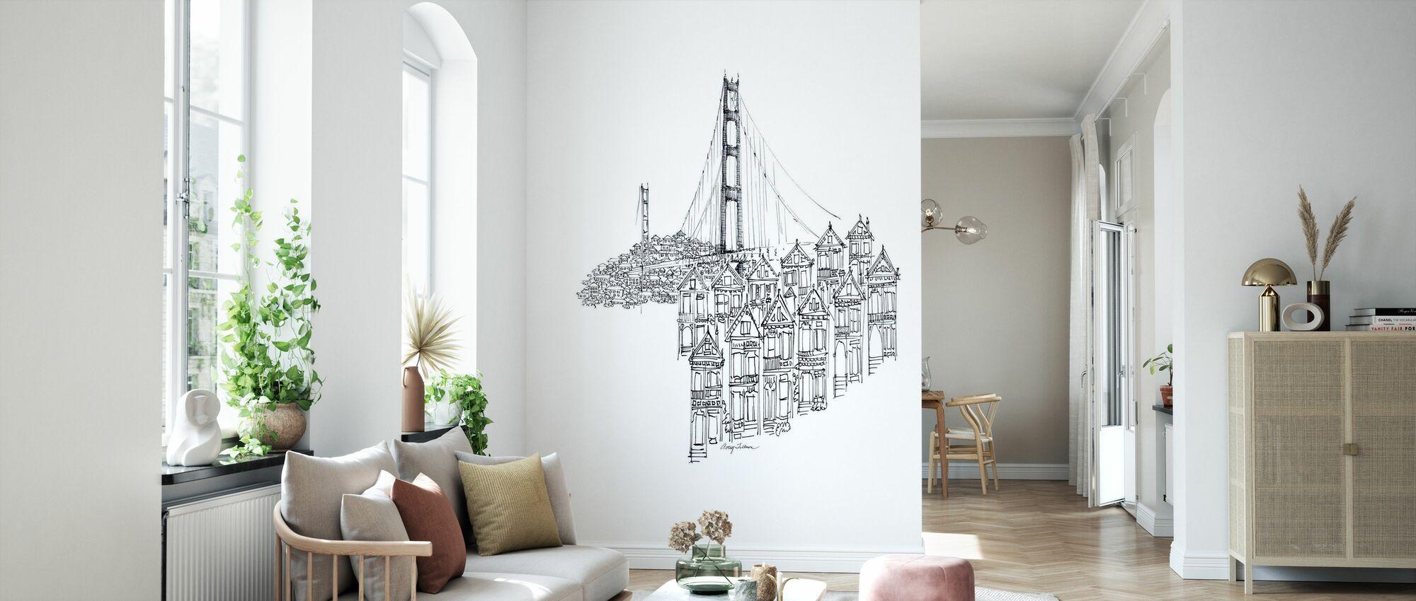 Avery Tillmon - Golden Gate - Wallpaper - Living Room