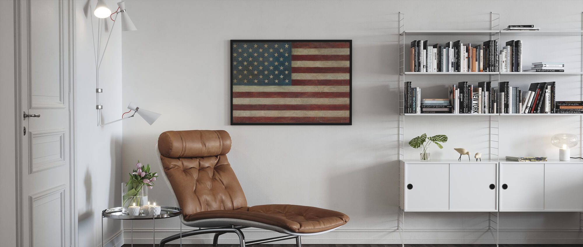 Avery Tillmon - American Flag - Framed print - Living Room