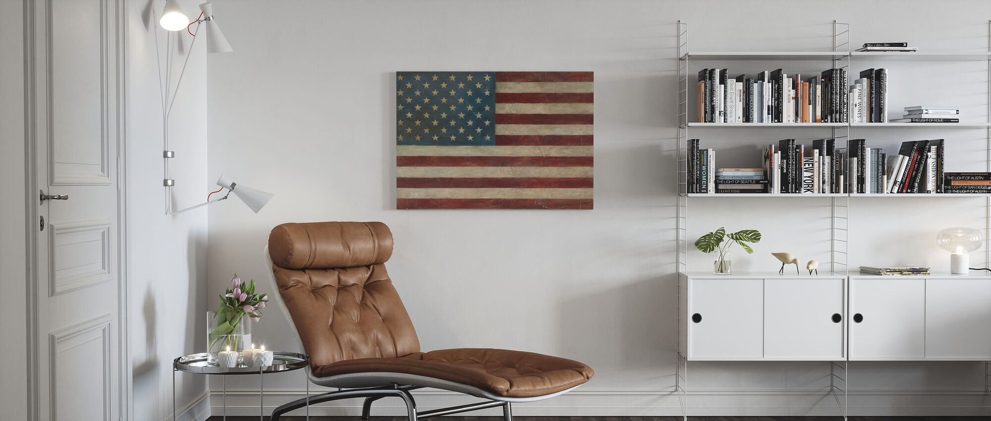 Avery Tillmon - American Flag - Canvas print - Living Room