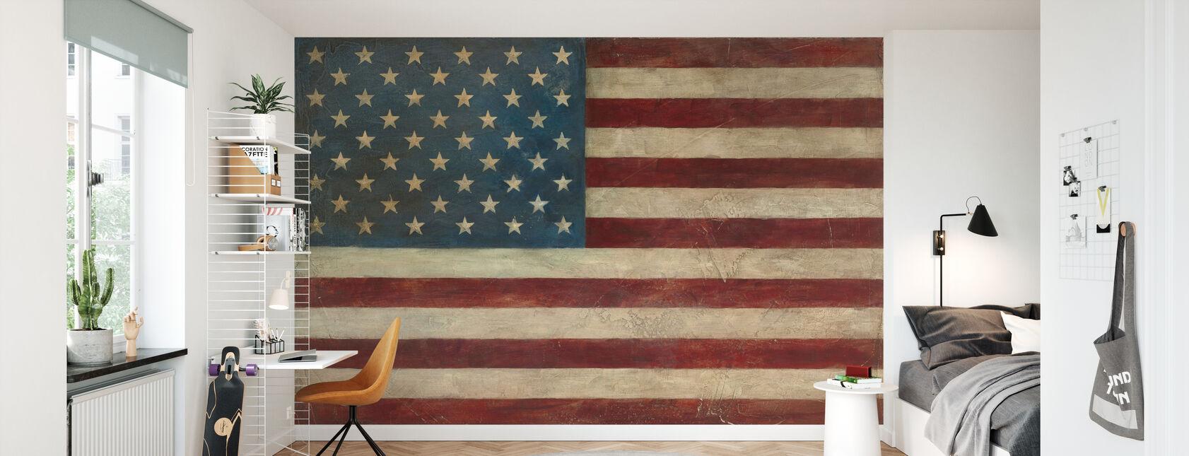 Avery Tillmon - Amerikaanse vlag - Behang - Kinderkamer