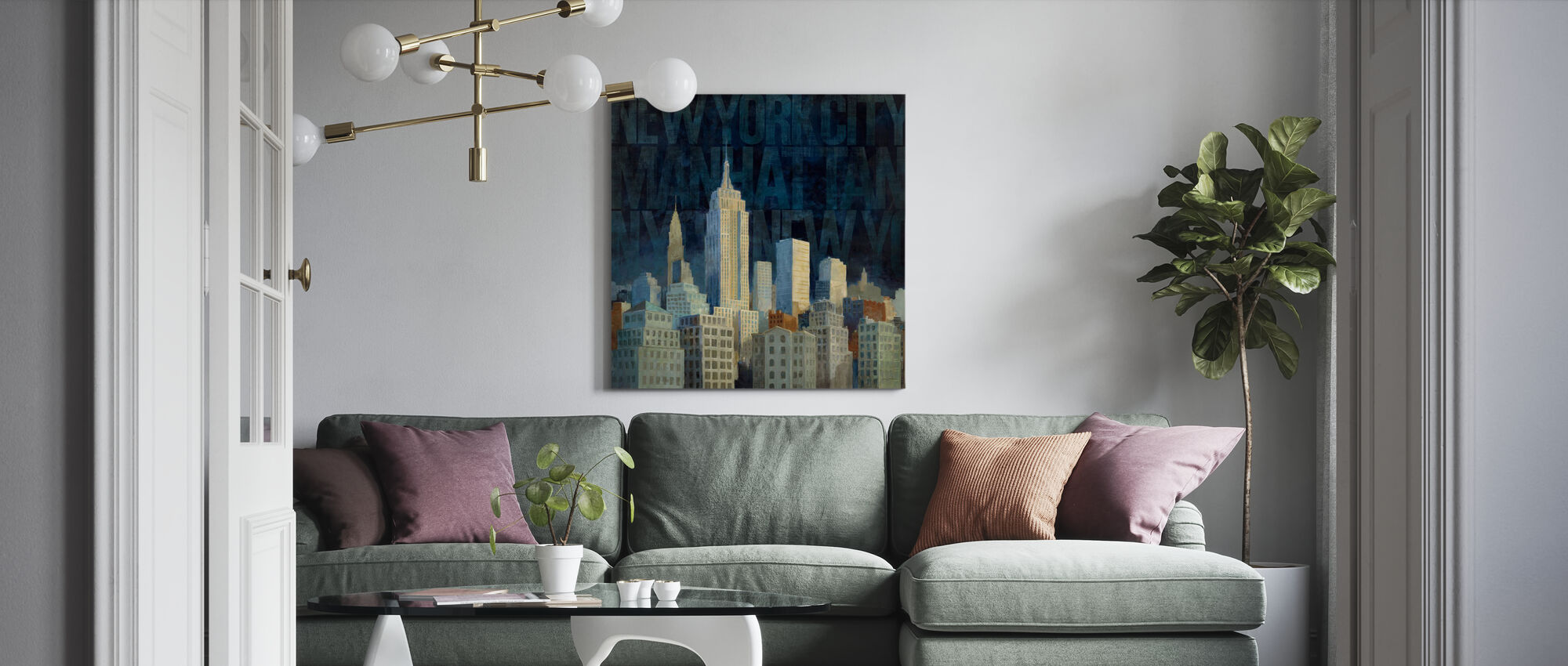 Avery Tillmon - Midnight in Midtown - Canvas print - Living Room