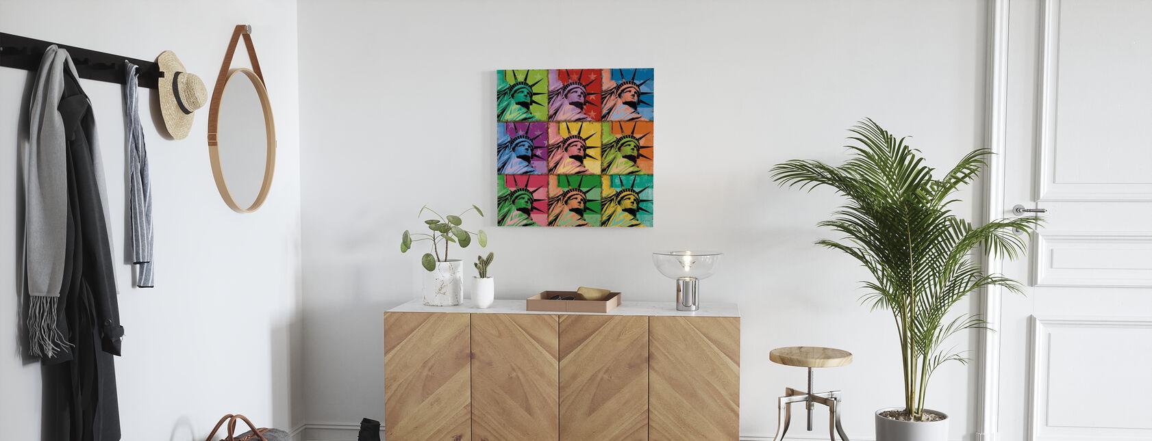 Pop Liberty - Canvas print - Hallway