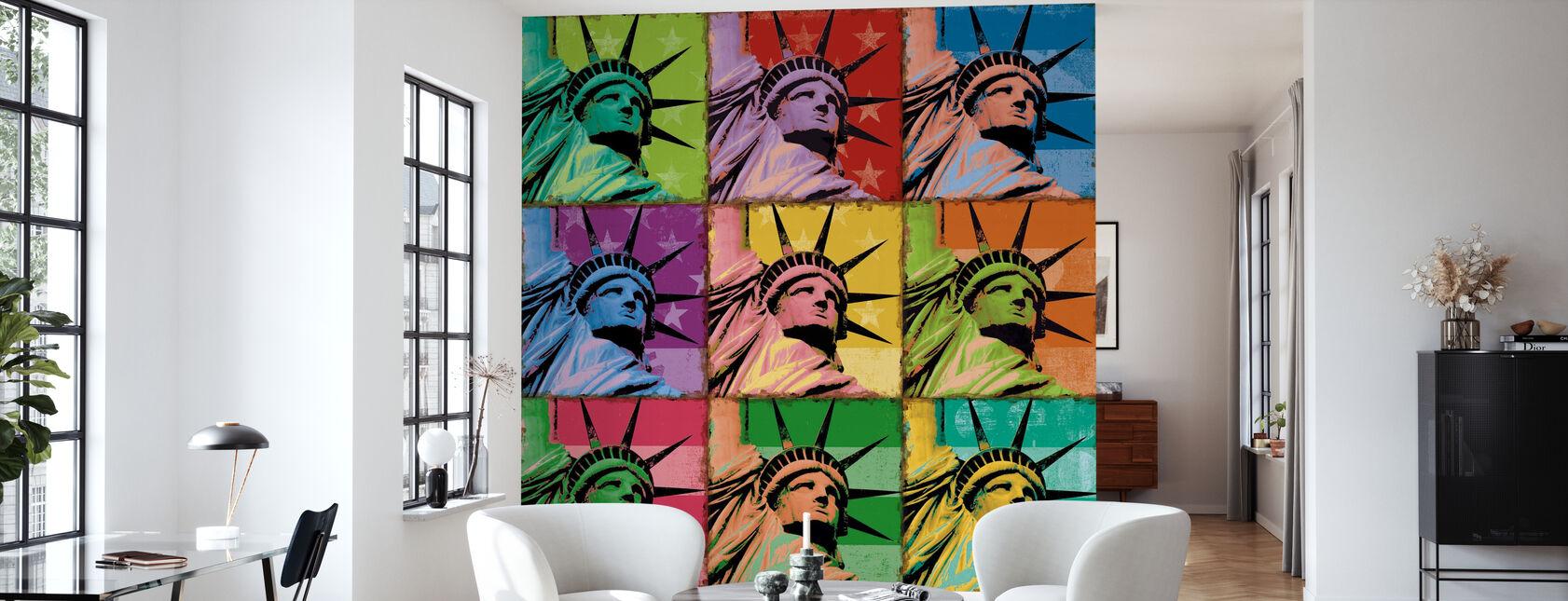 Liberté pop - Papier peint - Salle à manger