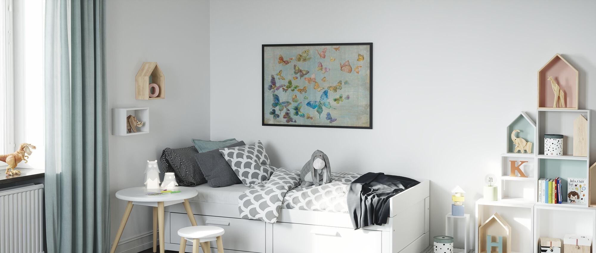 Vlinders - Ingelijste print - Kinderkamer