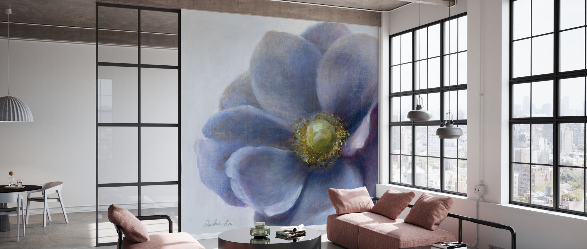 Contemporary Anemone - Wallpaper - Office
