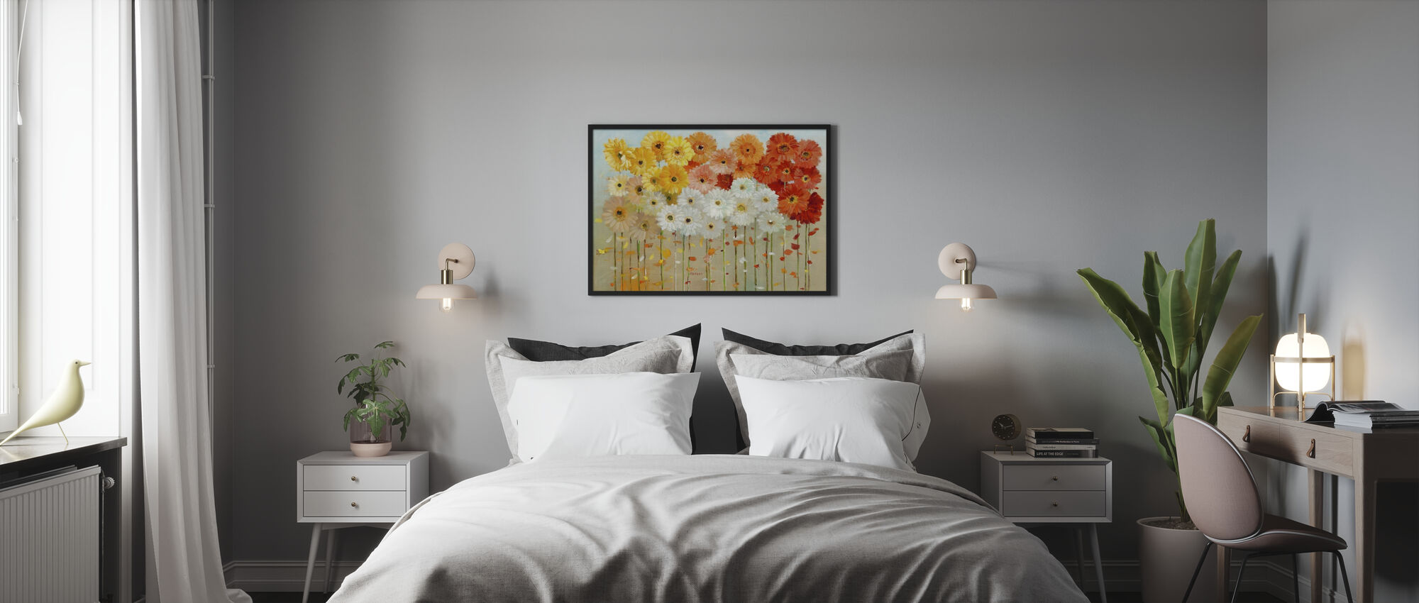 Daisies Fall - Framed print - Bedroom