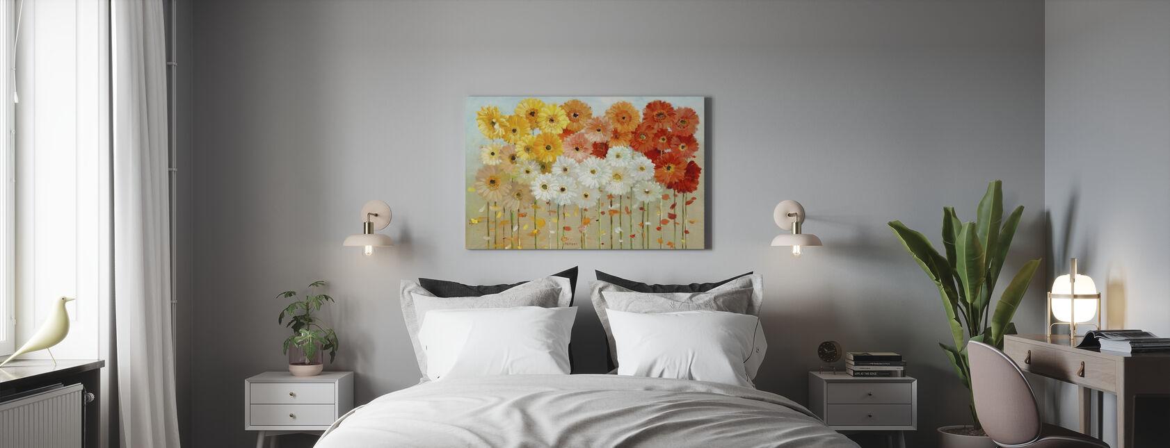 Caída de margaritas - Lienzo - Dormitorio