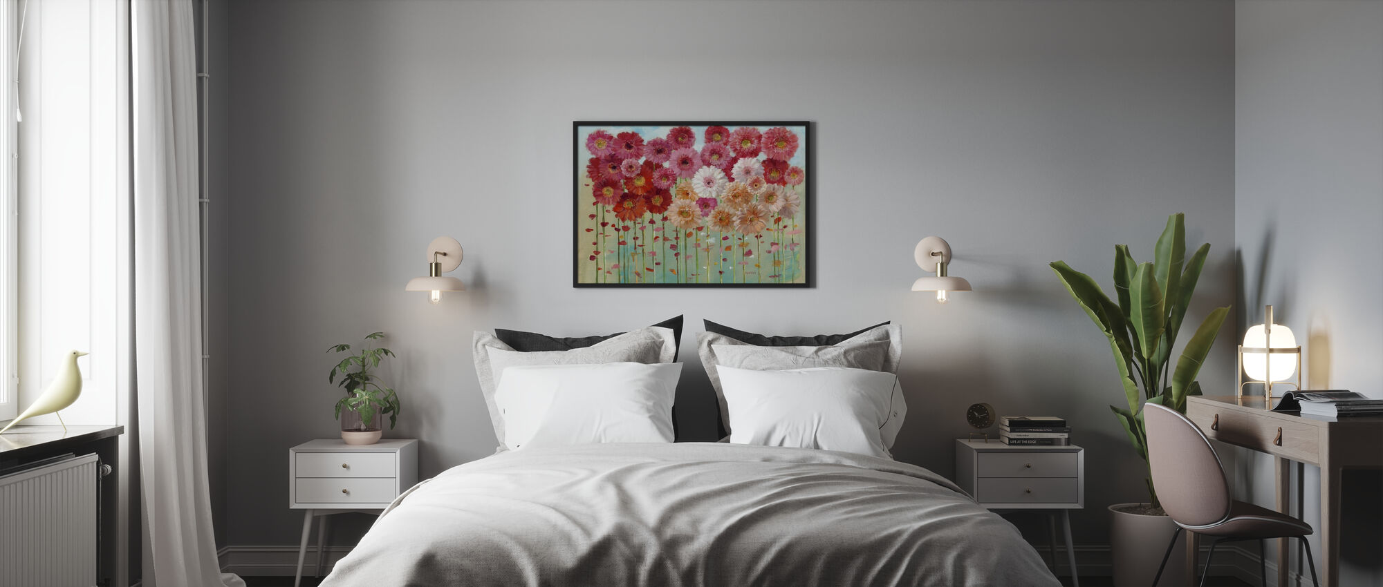 Daisies Spring - Framed print - Bedroom