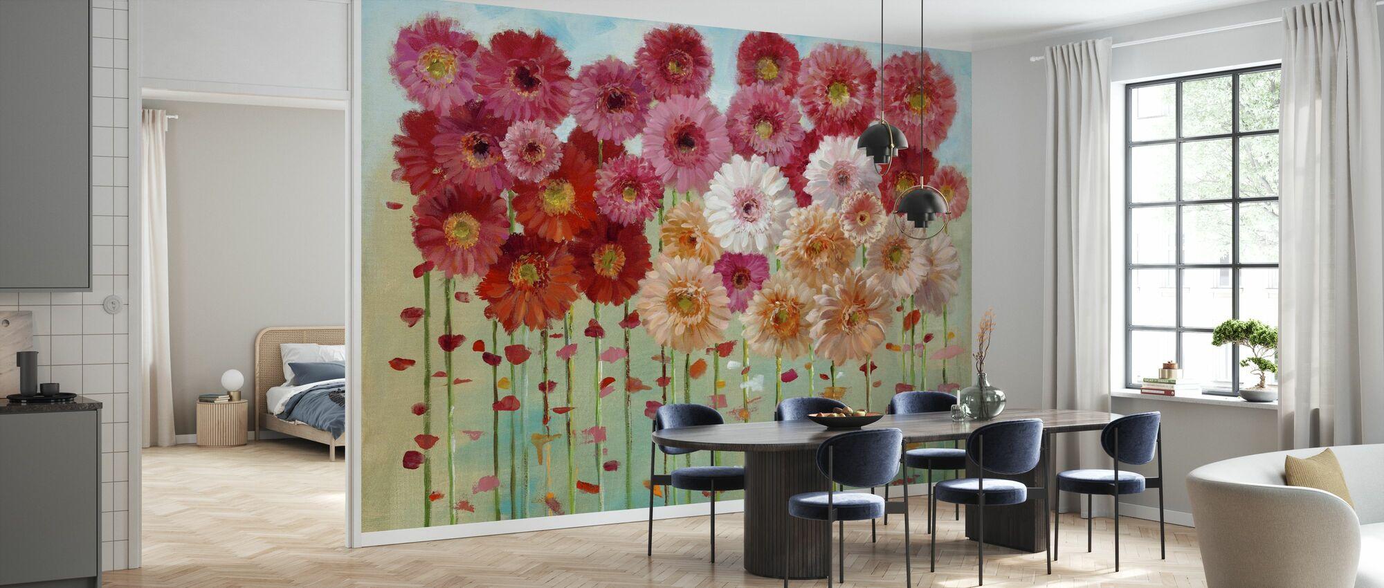 Daisies Spring - Wallpaper - Kitchen