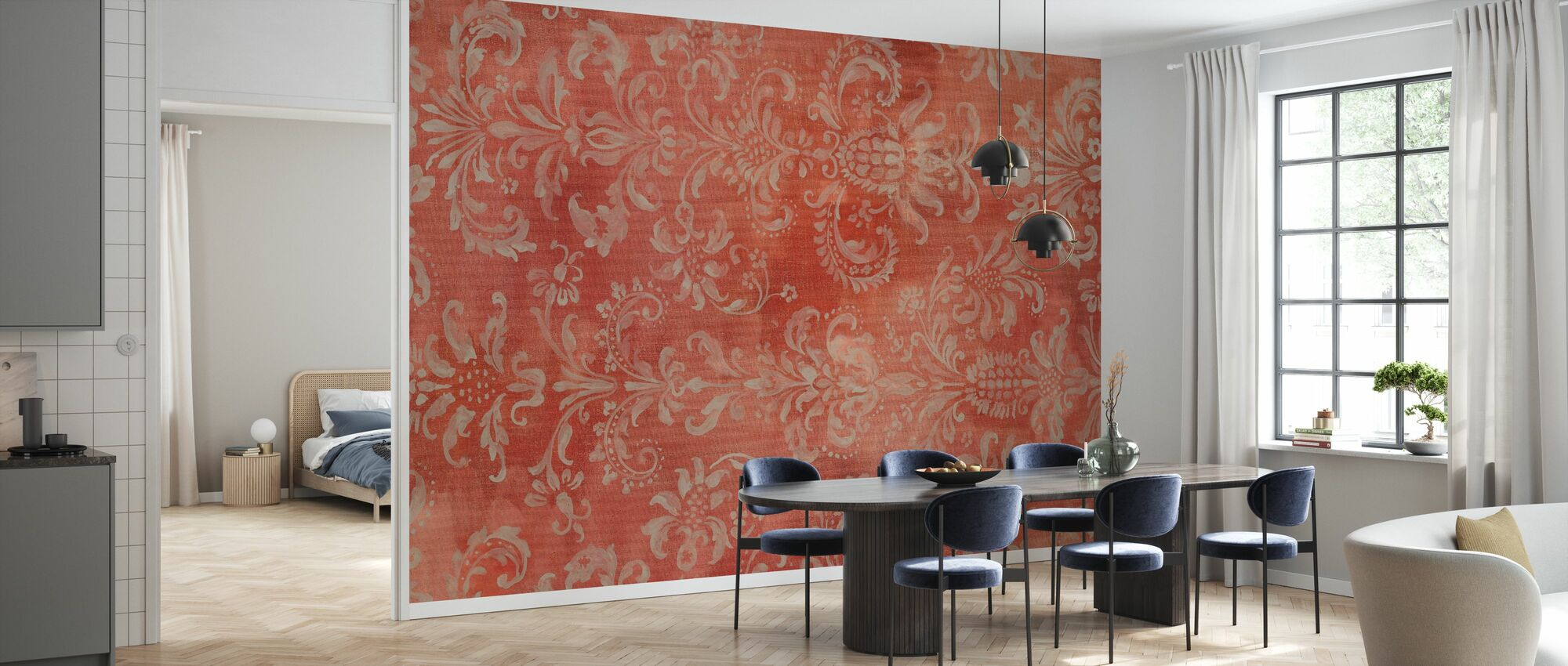 Damask Texture - Wallpaper - Kitchen
