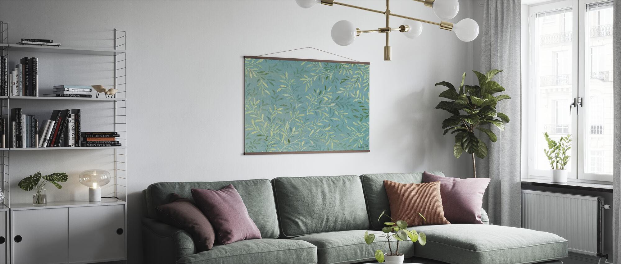 Leaves on Blue - Poster - Living Room