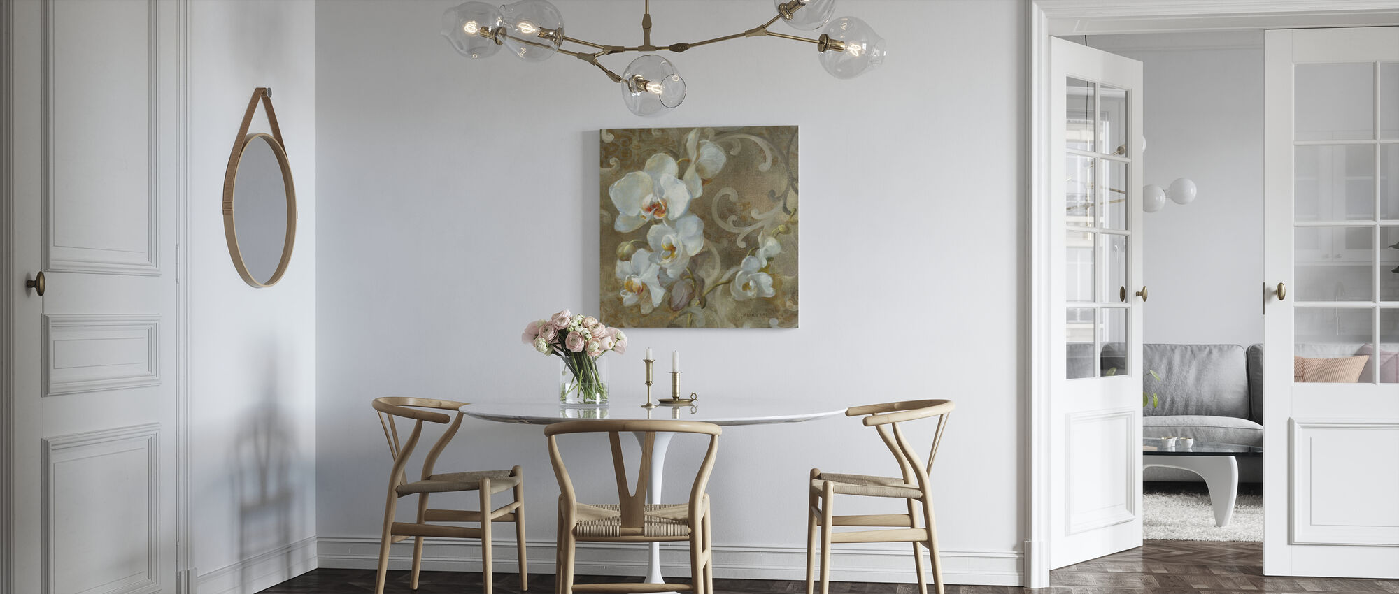 White Orchid Square - Canvas print - Kitchen