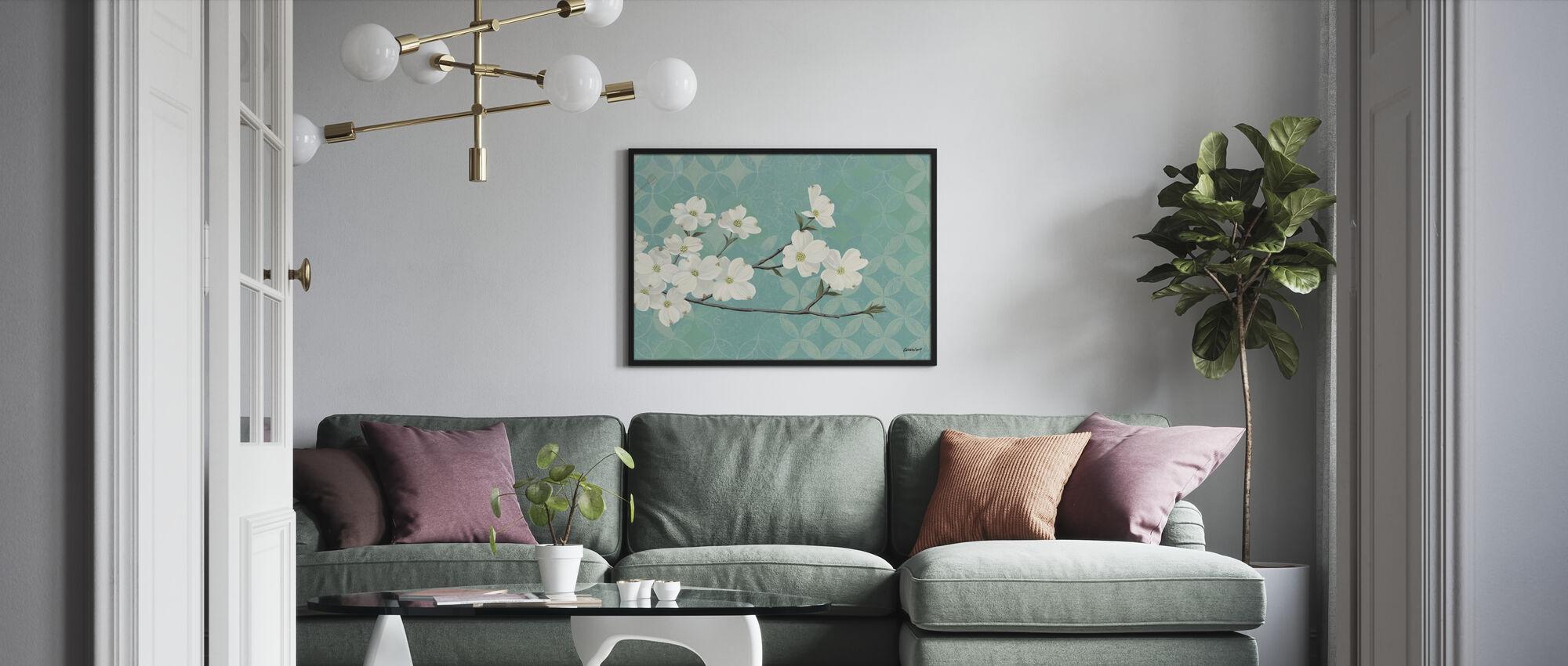 Hartriegel Blüten - Poster - Wohnzimmer