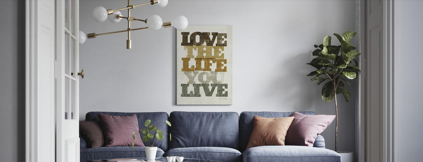 Leben und Liebe II - Leinwandbild - Wohnzimmer