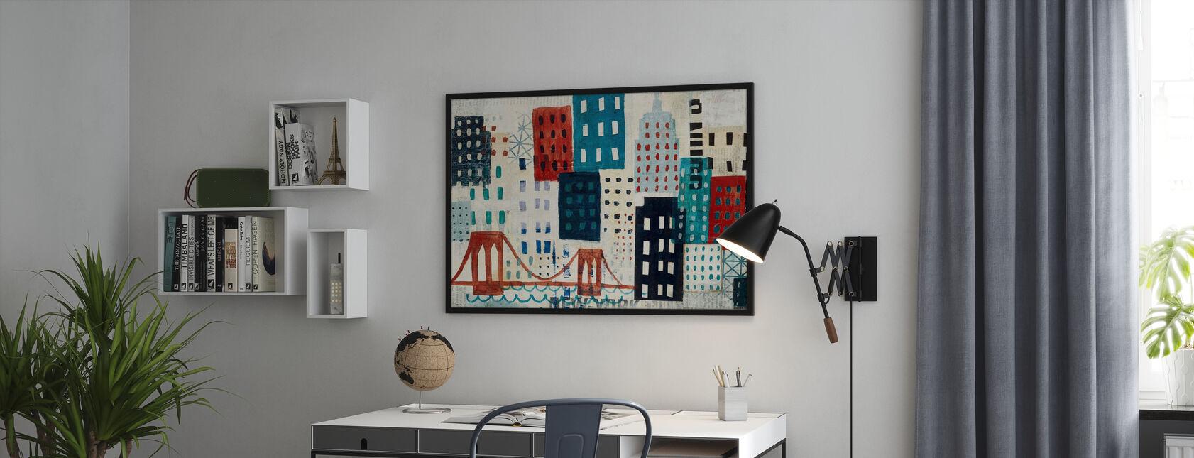 Collage Skyline di New York - Blu I - Poster - Uffici