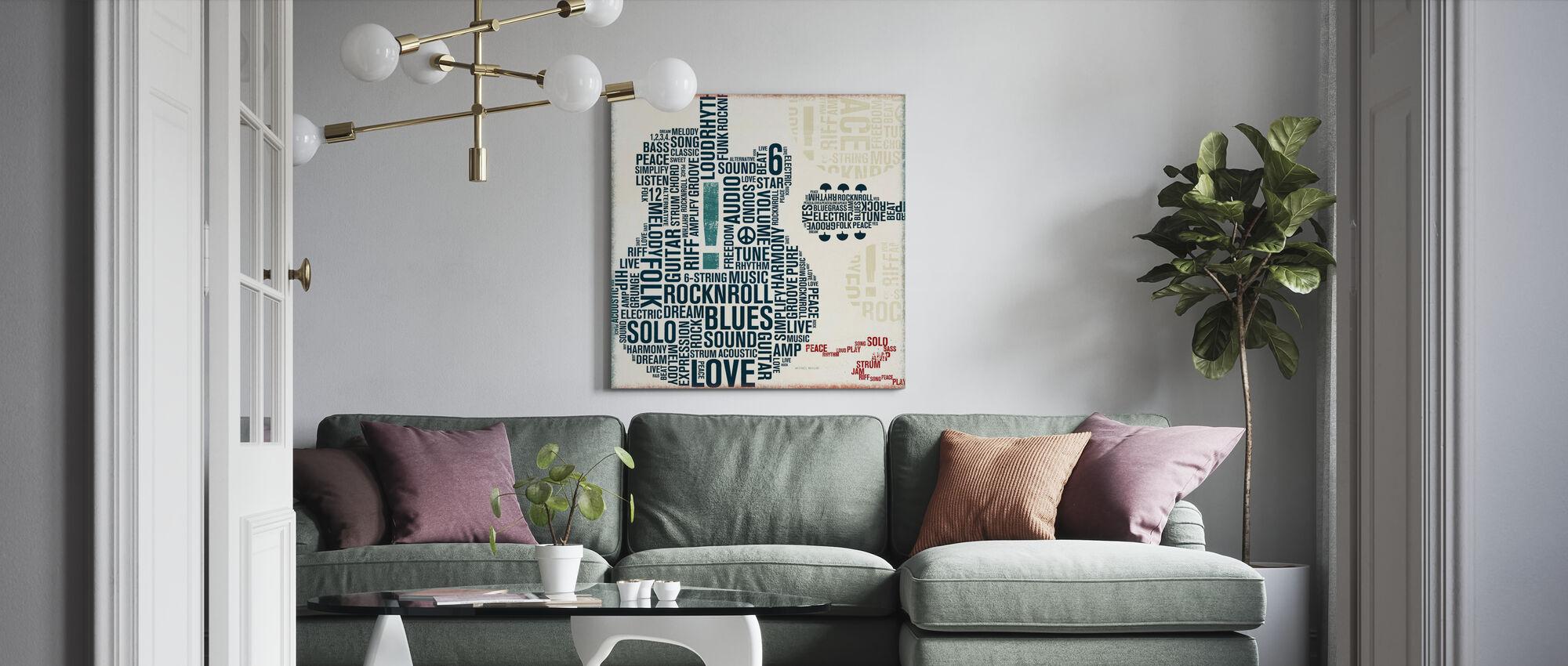 Type Guitar Square II - Canvas print - Living Room
