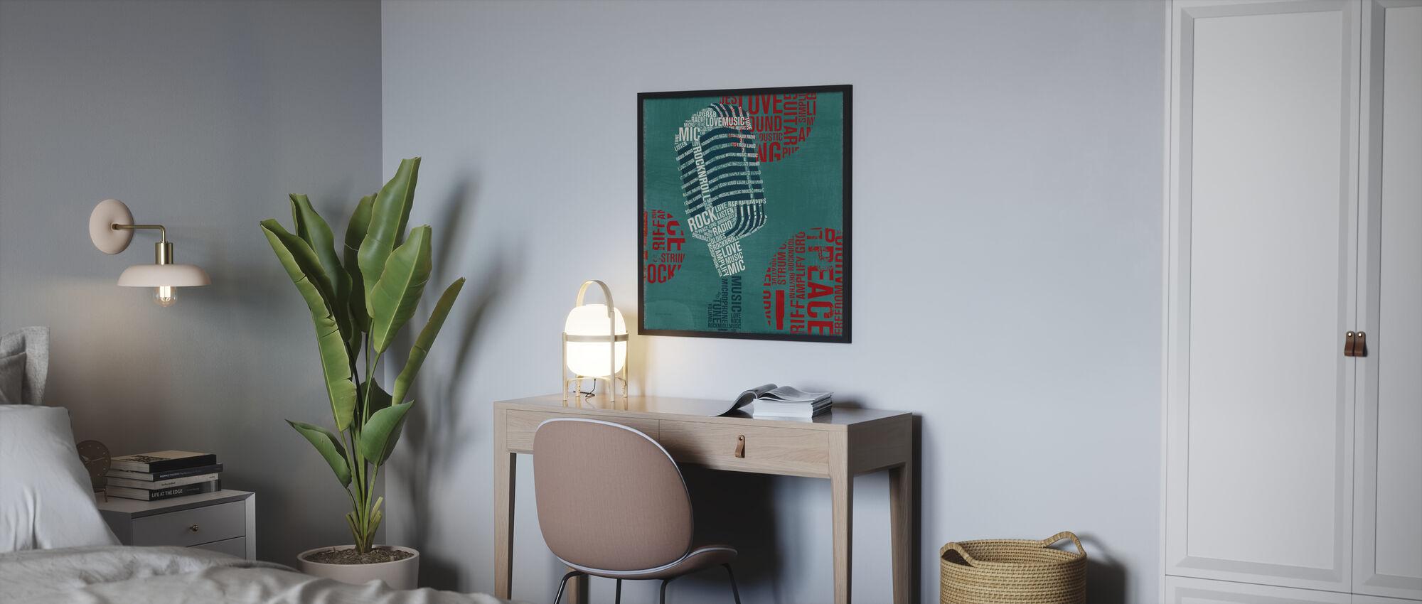 Type Mic Vierkant - Poster - Slaapkamer