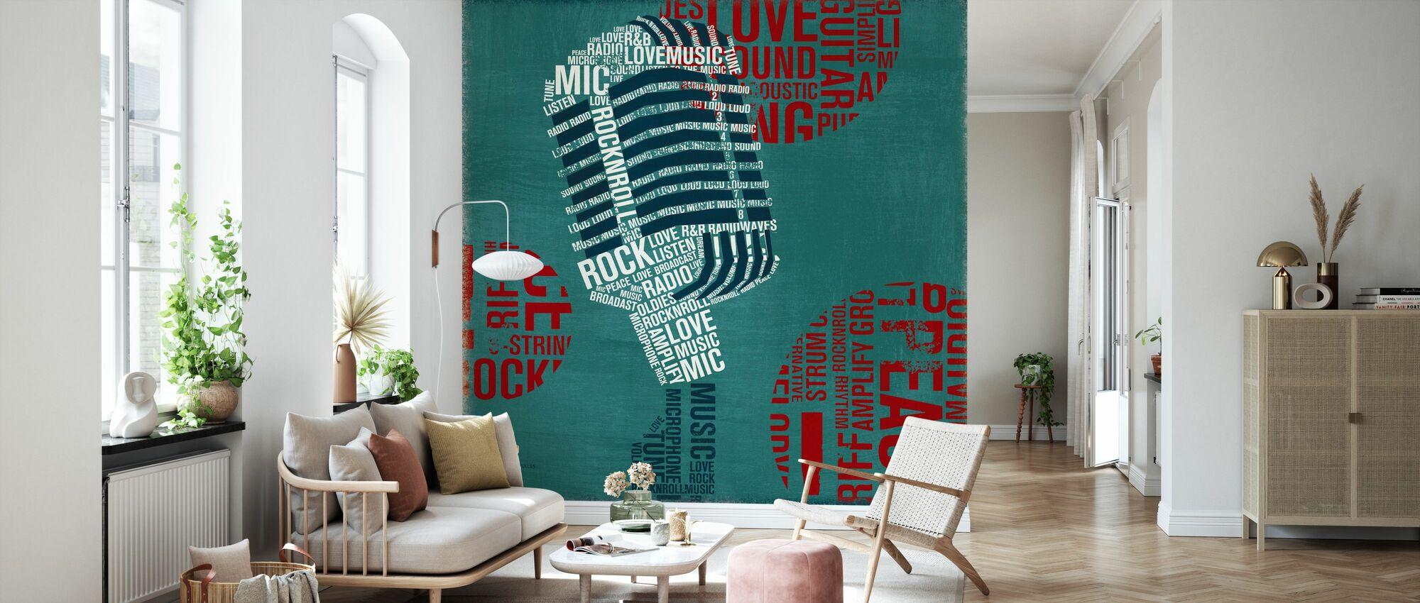 Typ Mikrofonquadrat - Tapete - Wohnzimmer
