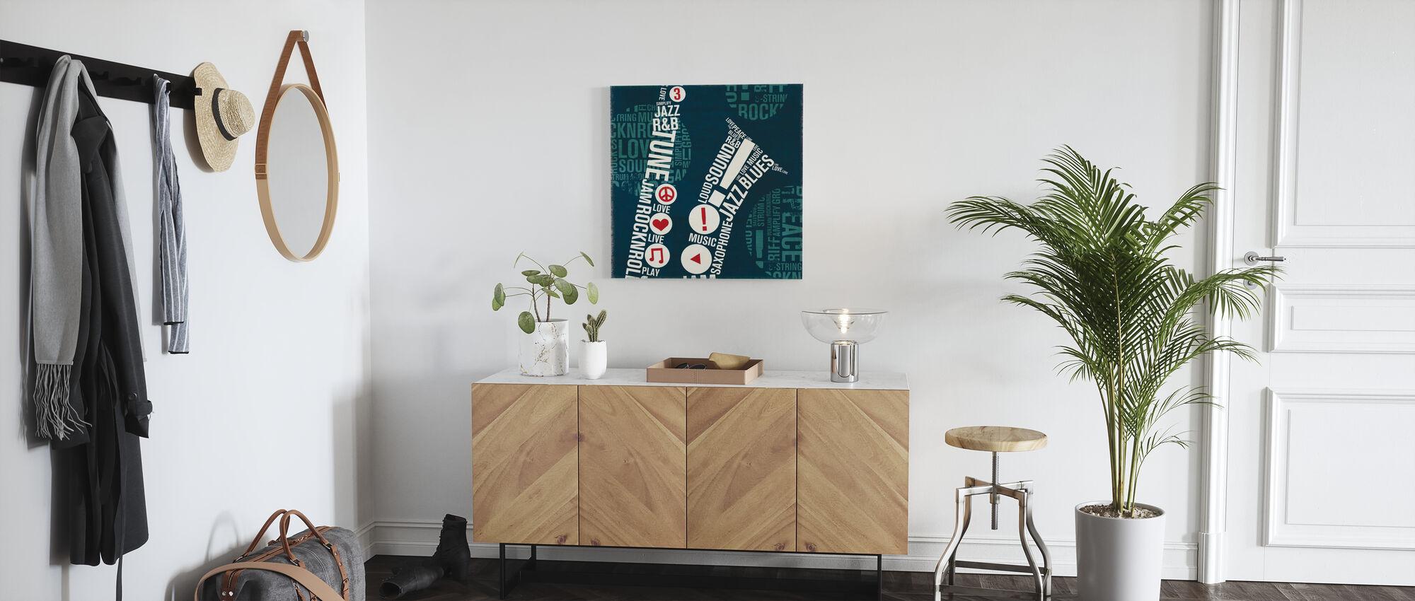 Type Sax Square - Canvas print - Hallway
