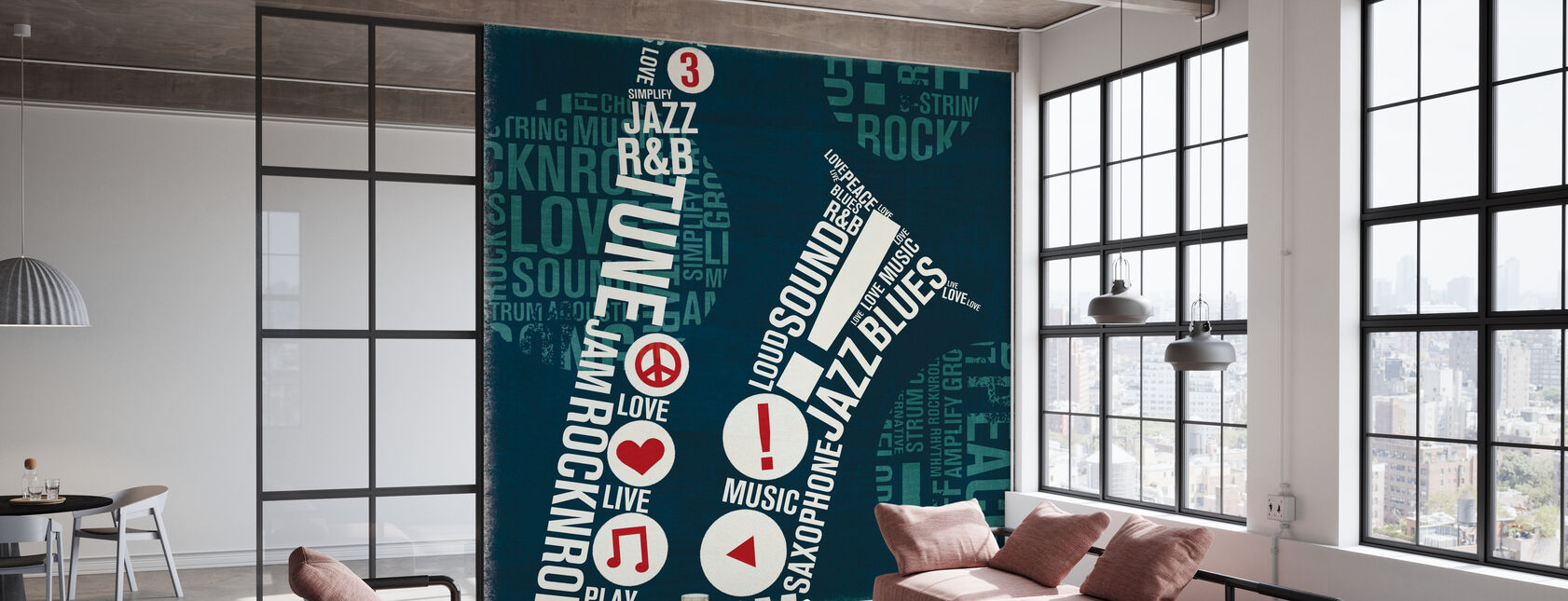 Type Sax Square - Wallpaper - Office