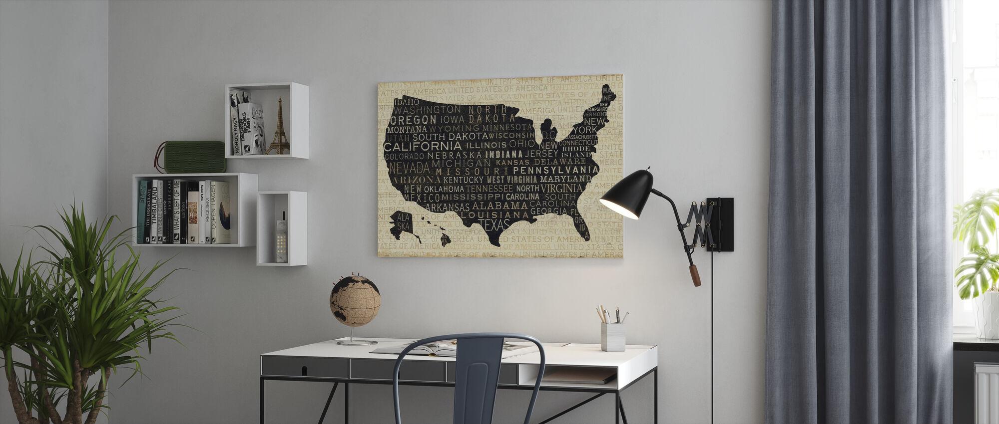 USA V - Canvas print - Office