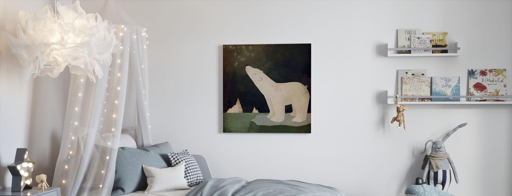 Tähtikuviot jääkarhu - Canvastaulu - Lastenhuone