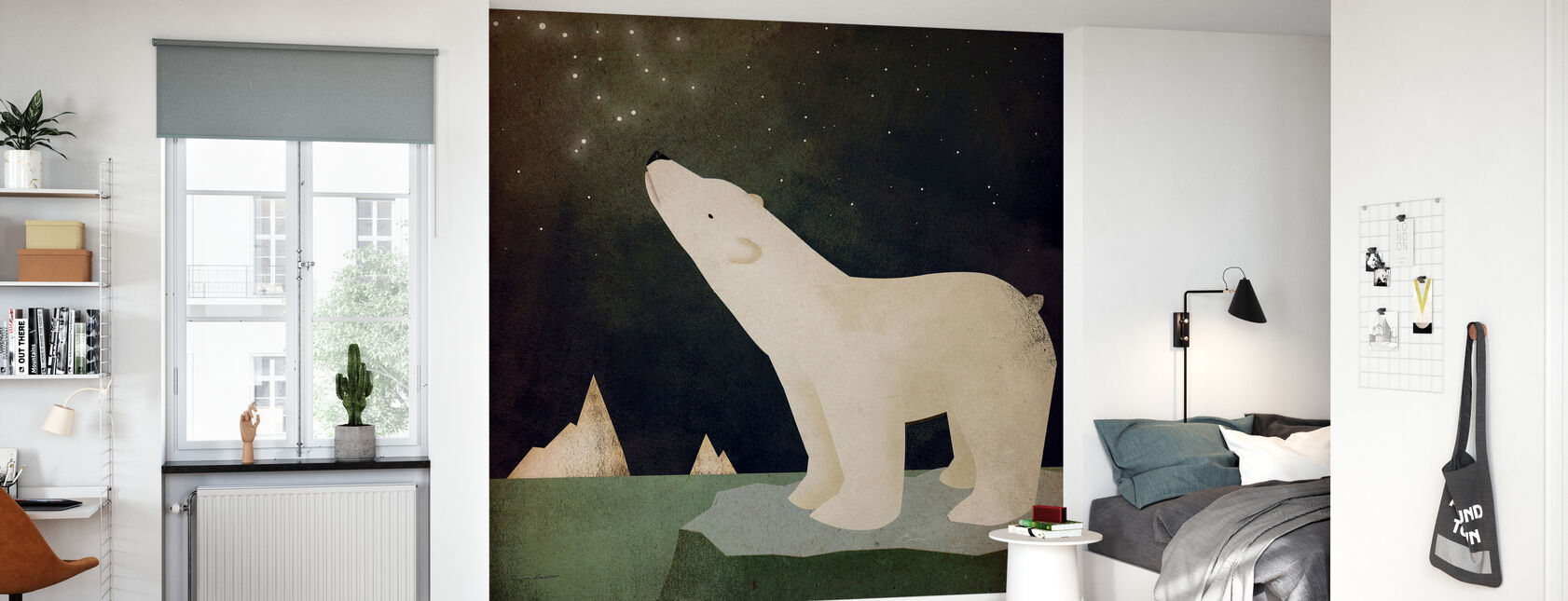 Konstellasjoner Isbjørn - Tapet - Barnerom
