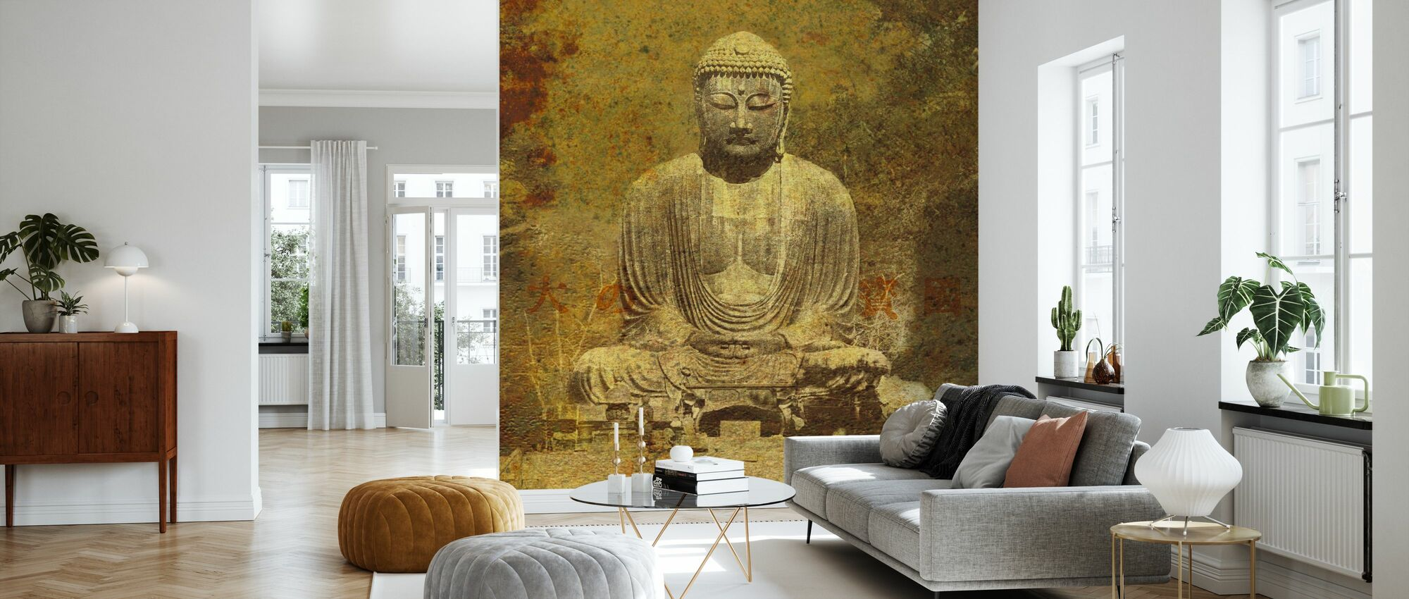 Asian Buddha - Wallpaper - Living Room