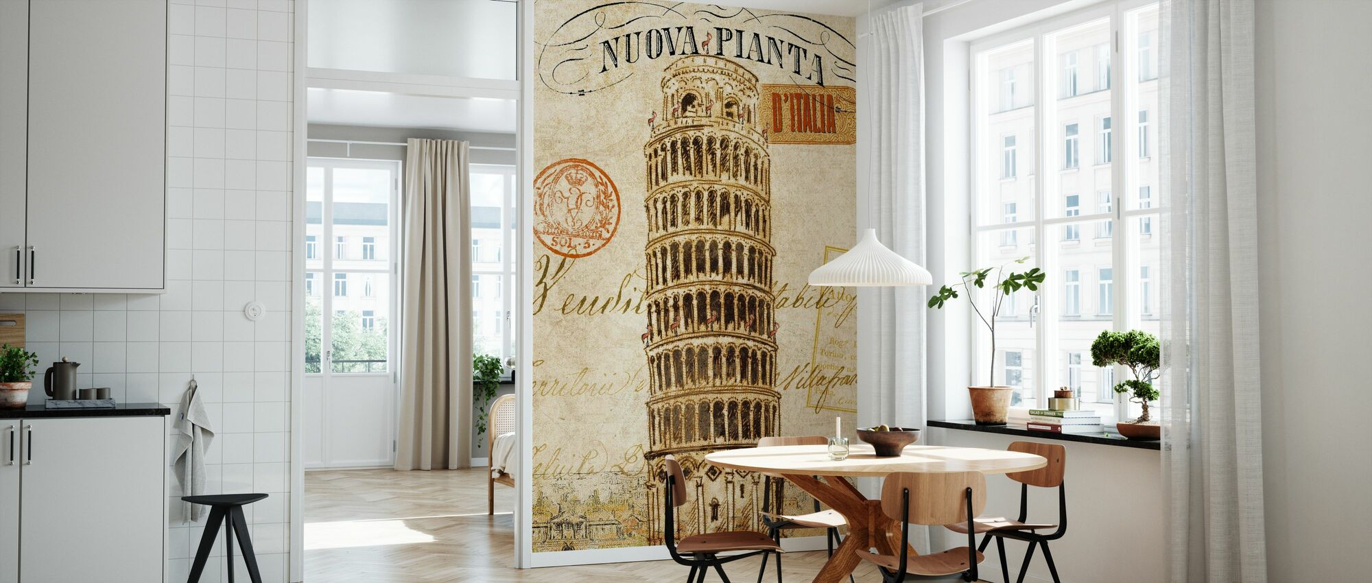 Letter from Italy - Wallpaper - Kitchen