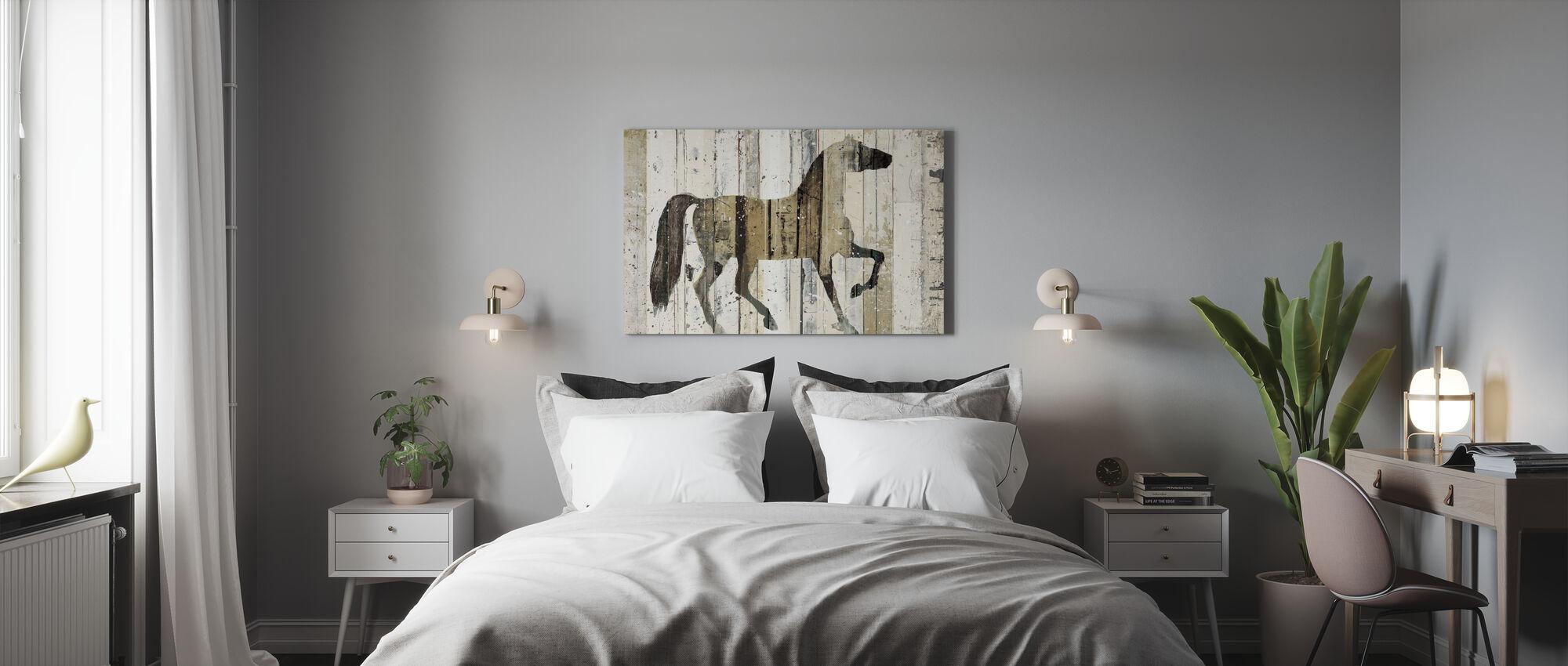 Tumma hevonen - Canvastaulu - Makuuhuone