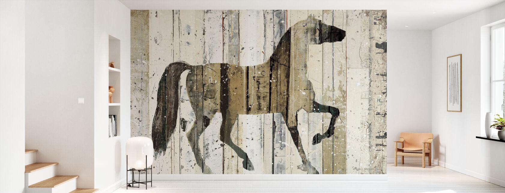 Cavallo oscuro - Carta da parati - Sala