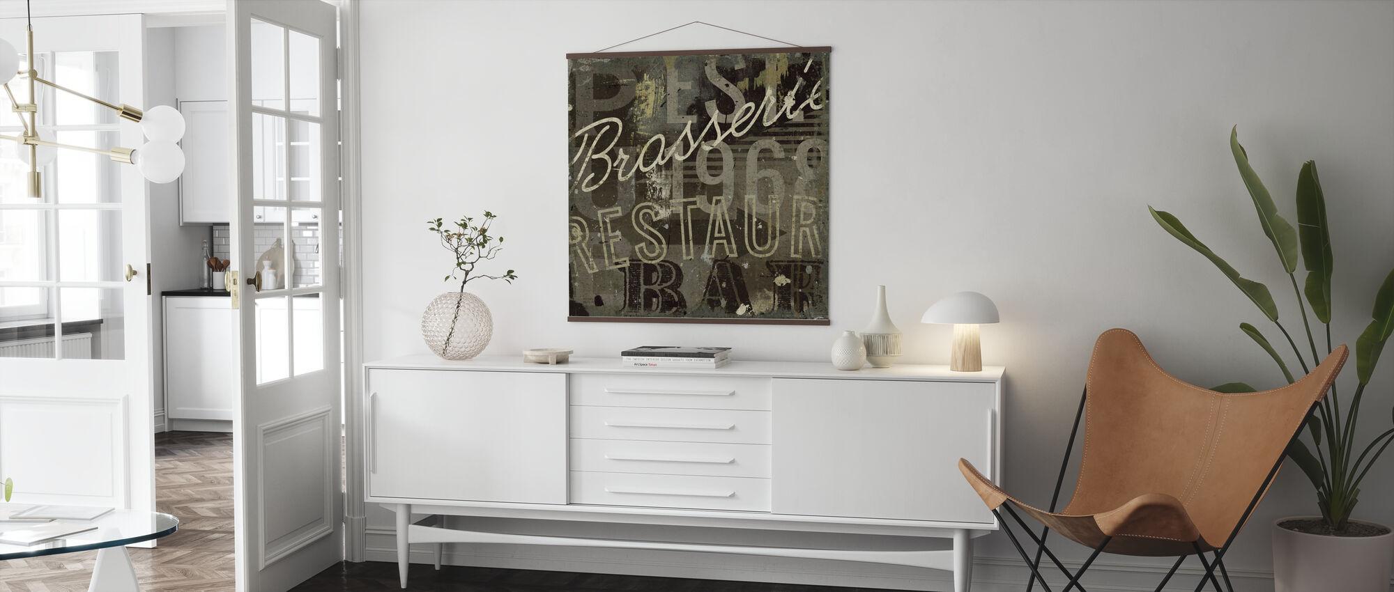 Restaurant Sign I - Poster - Living Room