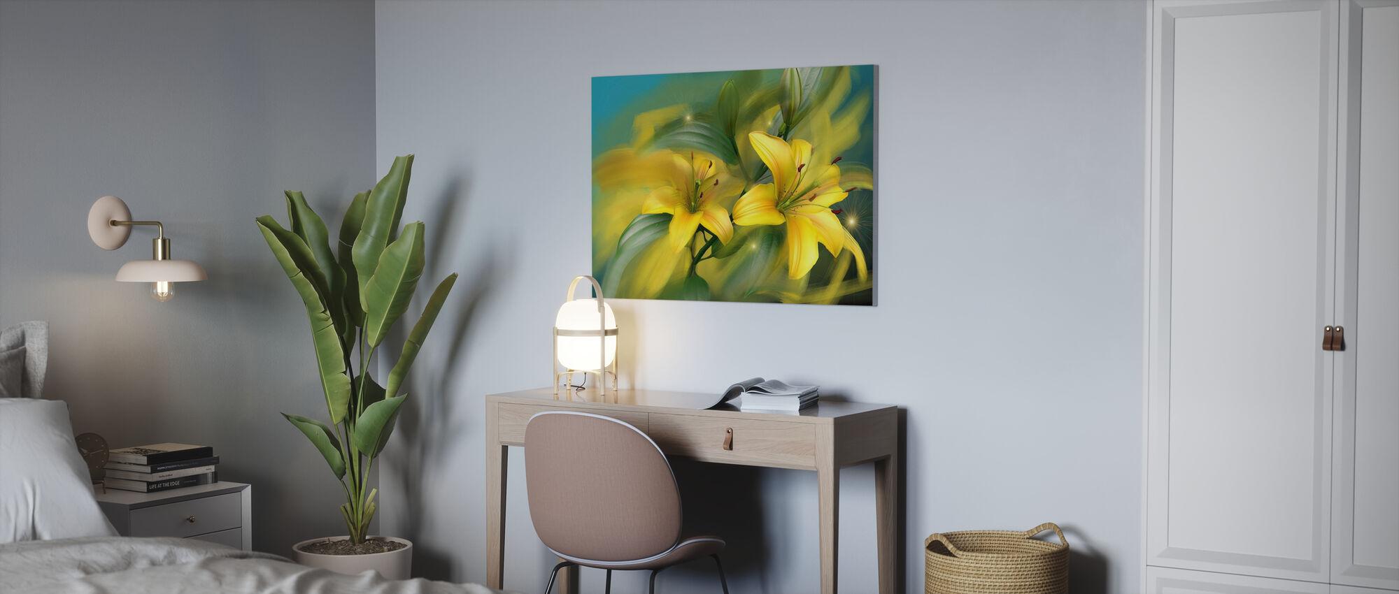 Flower Power - Canvas print - Office