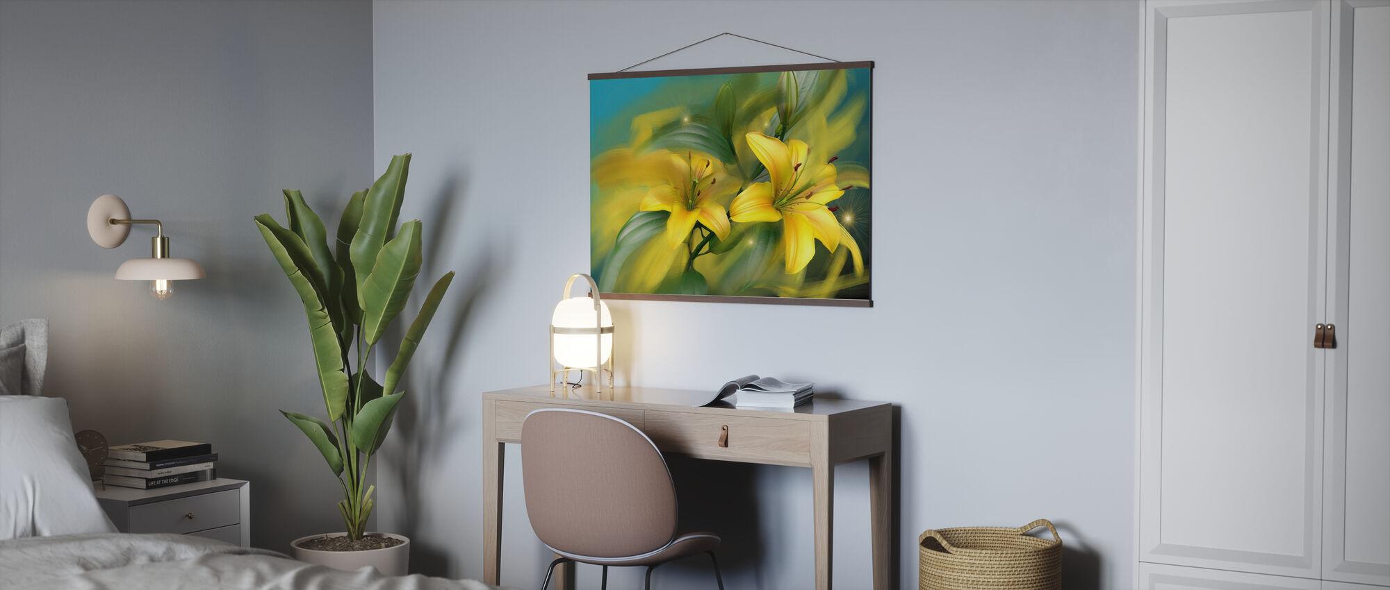 Puissance des fleurs - Affiche - Bureau